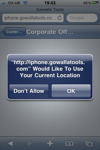 Gowalla Tools - Location Confirmation